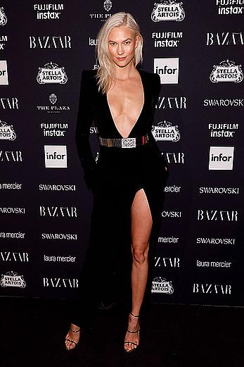 Karlie Kloss attends Harpers Bazaar ICONS party