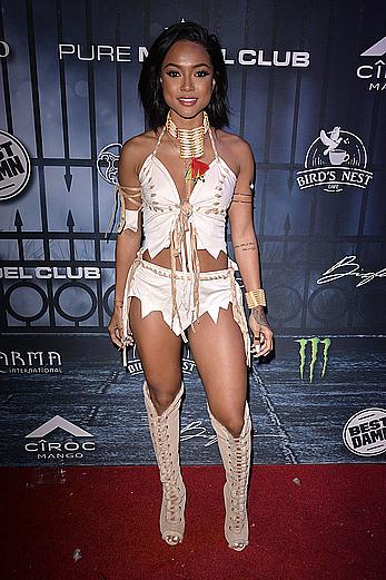 Karrueche Tran sexy at Maxim Halloween party