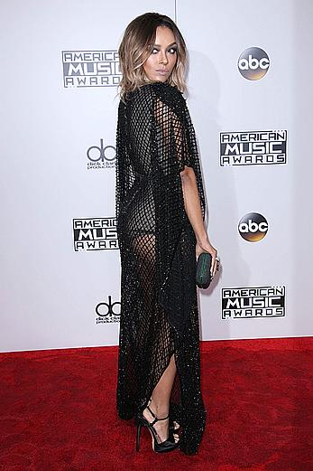 Kat Graham in see through dress at 2016 American Music Awards