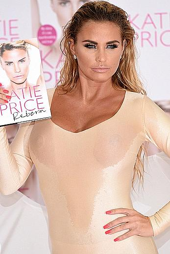 Katie Price see through dressed at autobiography reborn launch in London