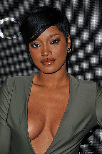 Keke Palmer downblouse at Sean Combs birthday celebration in Beverly Hills