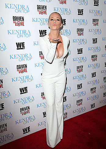 Kendra Wilkinson sexy cleavage at WE tv Celebrates The Premiere Of Kendra On Top And Driven To Love