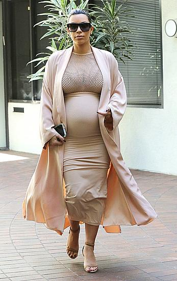 Kim Kardashian pregnant out and about in Beverly Hills