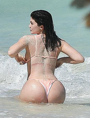 Kylie Jenner great ass in nikini at a beach in Turks and Caicos