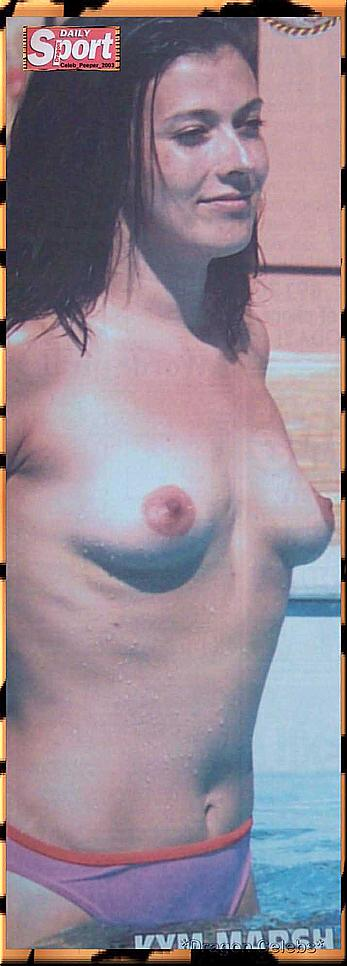 Kym Marsh topless paparazzi shots