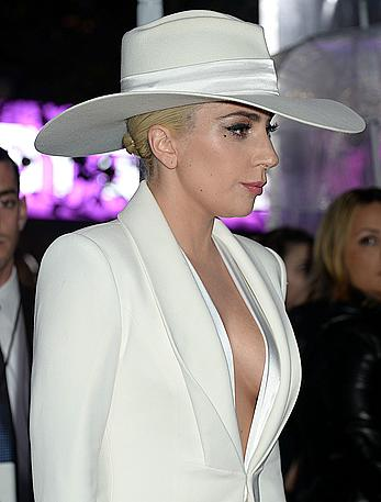 Lady Gaga in white suit at 2016 American Music Awards
