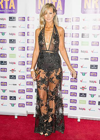 Lady Victoria Hervey in see through dress at The National Reality TV Awards 2016