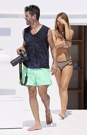 Lauren Pope topless during photosession in Ibiza