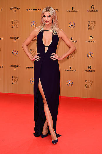 Lena Gercke posing at Bambi Awards in Berlin