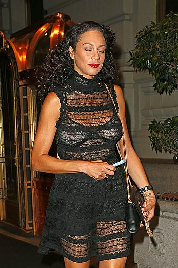 Lilly Becker wears a see through top while heading out to dinner