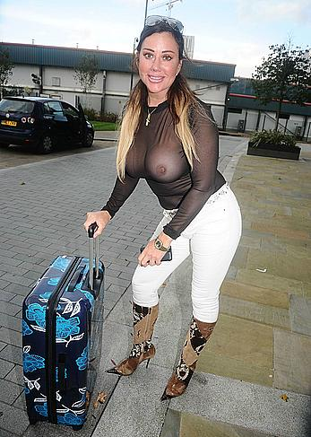 Busty Lisa Appleton in see through top