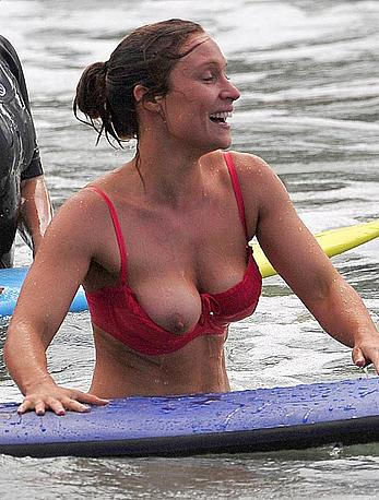 Lisa Gormley tit slip in Sydney