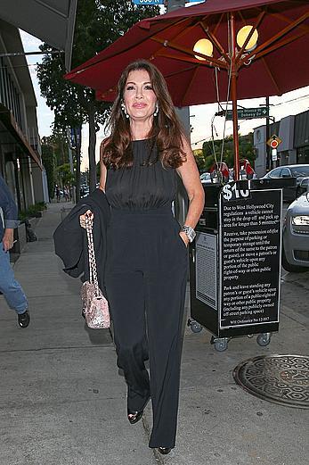 Lisa Vanderpump hard nipples under see through top