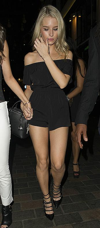 Lottie Moss sexy legs at Cirque le Soir in London