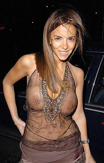 Lucy Becker nude breasts under see through dress