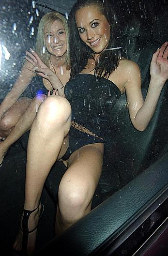 Lucy Clarkson upskirt in a car