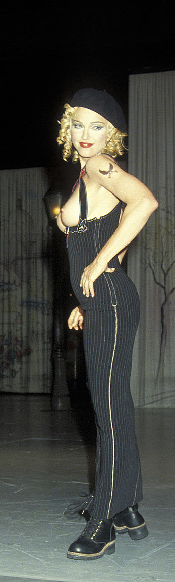 madonna topless at fashion show