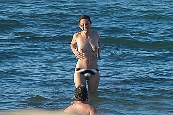 Marion Cotillard topless on a beach in Fuereventura
