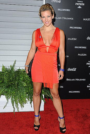 Miesha Tate cleavage at Maxim Hot 100 Women of 2014 celebration in West Hollywood