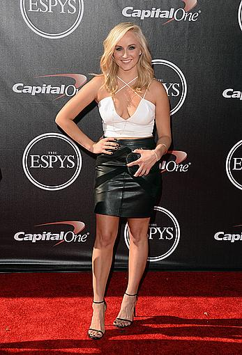 Nastia Liukin shows legs and cleavage at The 2014 ESPY Awards