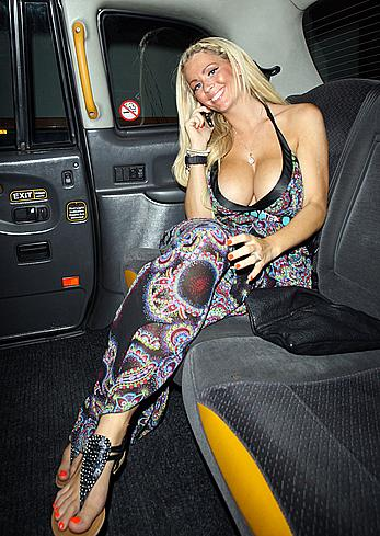 Nicola McLean shows deep sexy cleavage