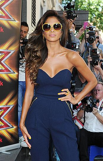 Nicole Scherzinger shows sexy cleavage at The X Factor UK Series Press Launch