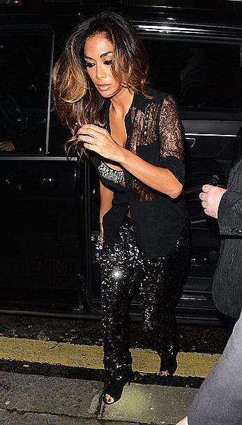 Nicole Scherzinger cleavage in London