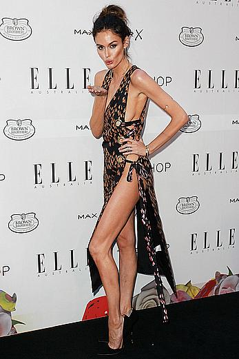 Nicole Trunfio side of boob at Elle Style Awards in Sydney