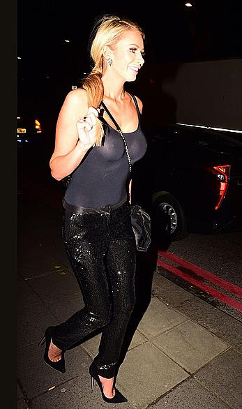 Olivia Attwood in see through top leaving Broadcast awards