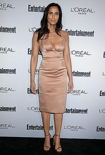 Padma Lakshmi deep sexy cleavage at Entertainment Weekly Hosts 2016 Pre-Emmy Party