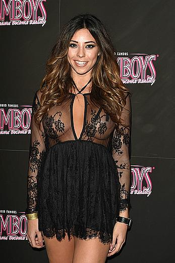 Pascal Craymer in see through dress at The Dreamboys 2016 calendar launch in London