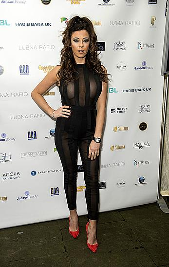 Busty Pascal Craymer in see through top at Gurbani Kaur India Pakistan fashion show