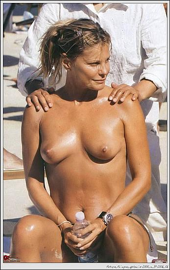 Patrizia Pellegrino topless getting massage