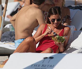 Petra Kladivova sunbathing topless