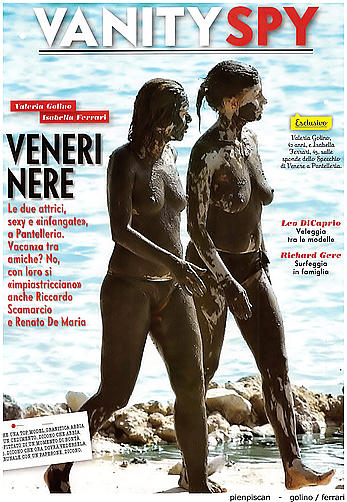 Isabella Ferrari caught topless with Valeria Golino