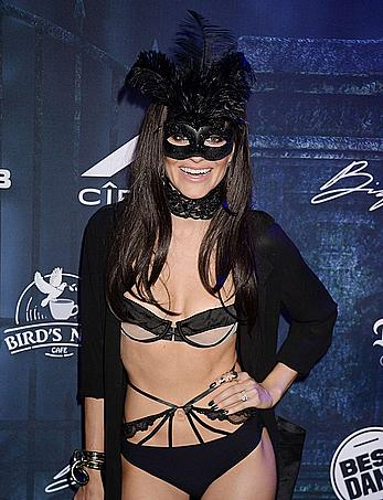 Rachel McCord sexy at Maxim Halloween party