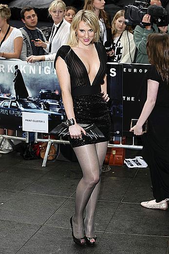 Rebecca Ferdinando see through to tits at Dark Knight Rises premiere in London