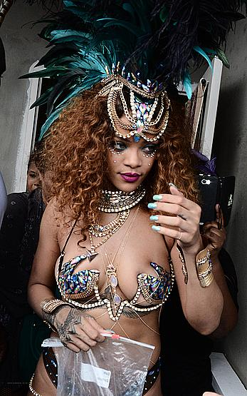 Rihanna sexy at Kadooment Day in Barbados