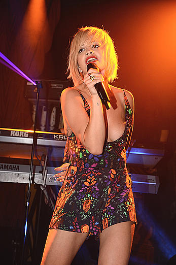 Rita Ora sexy performs at The Box in NY
