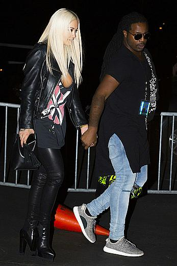 Rita Ora nipslip leaving a Chris Brown concert in Anaheim