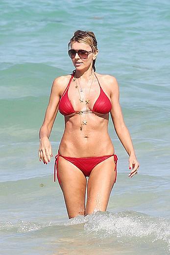Rita Rusic sexy in red bikini