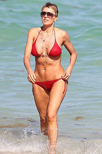 Rita Rusic sexy in red bikini