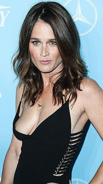Robin Tunney nipple slip at Variety and Women in Film Emmy Nominee celebration