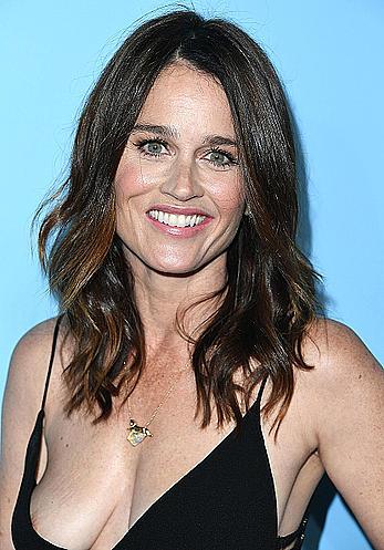 Robin Tunney nipple slip at Variety and Women in Film Emmy Nominee celebration