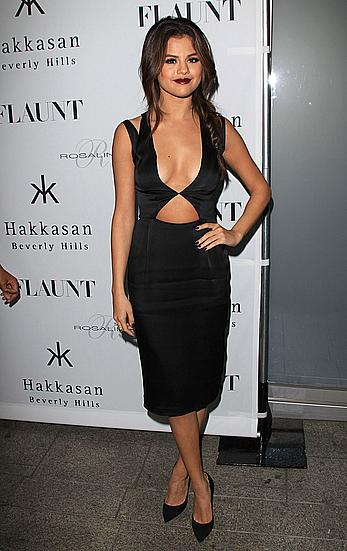 Selena Gomez  posing at Hakkasan Beverly Hills Hosts Flaunt Magazine Issue Party