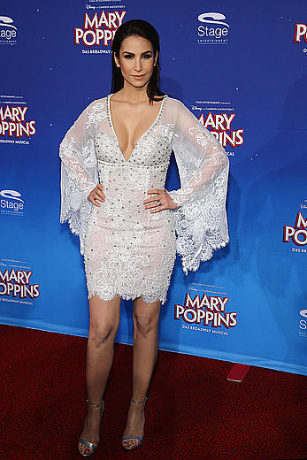 Sila Sahin cleavage at Mary Poppins premiere