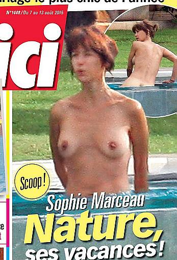Sophie Marceau nude on a beach paparazzi pics