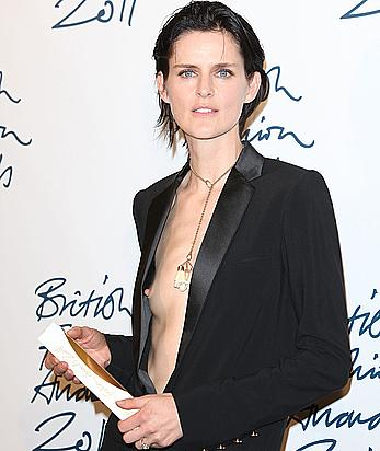 Stella Tennant tit slip at 21st annual Gotham Awards in New York