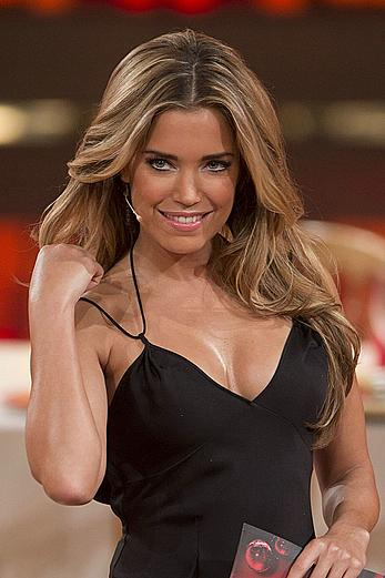 Sylvie van der Vaart sexy cleavage at RTL Let's Dance Christmas Special in Cologne