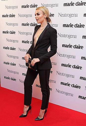 Tallia Storm nipple slip at the Marie Claire Future Shapers awards